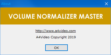 Volume Normalizer Master
